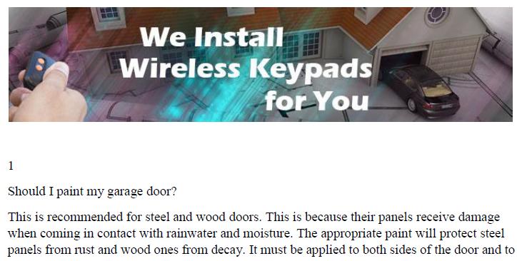 Manuals Garage Door Repair Tustin Ca